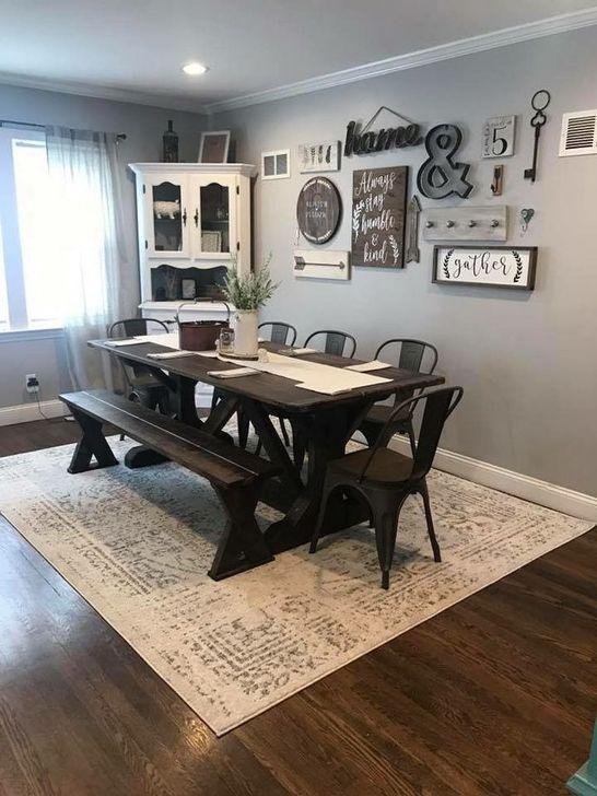 Gorgeous Rustic Dining Room Design Ideas 16
