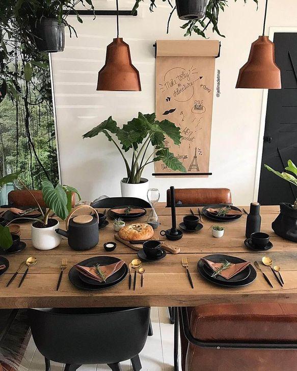 Gorgeous Rustic Dining Room Design Ideas 18
