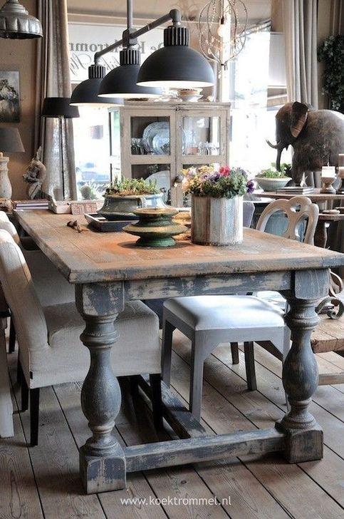 Gorgeous Rustic Dining Room Design Ideas 19