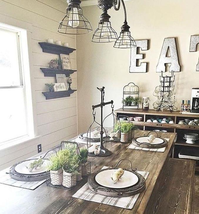 Gorgeous Rustic Dining Room Design Ideas 32