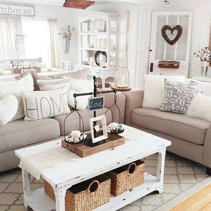 Gorgeous Shabby Chic Living Room Design And Decor Ideas 17