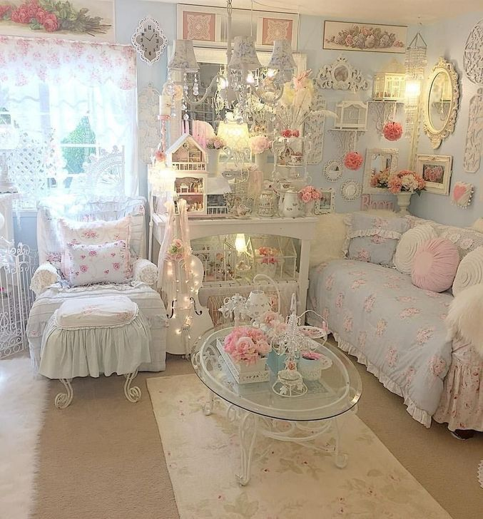 Gorgeous Shabby Chic Living Room Design And Decor Ideas 28