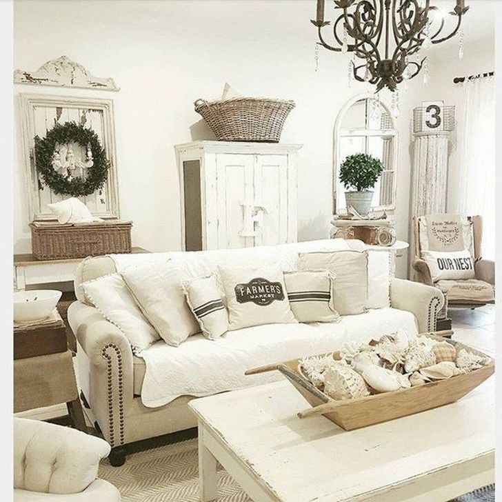 Gorgeous Shabby Chic Living Room Design And Decor Ideas 33