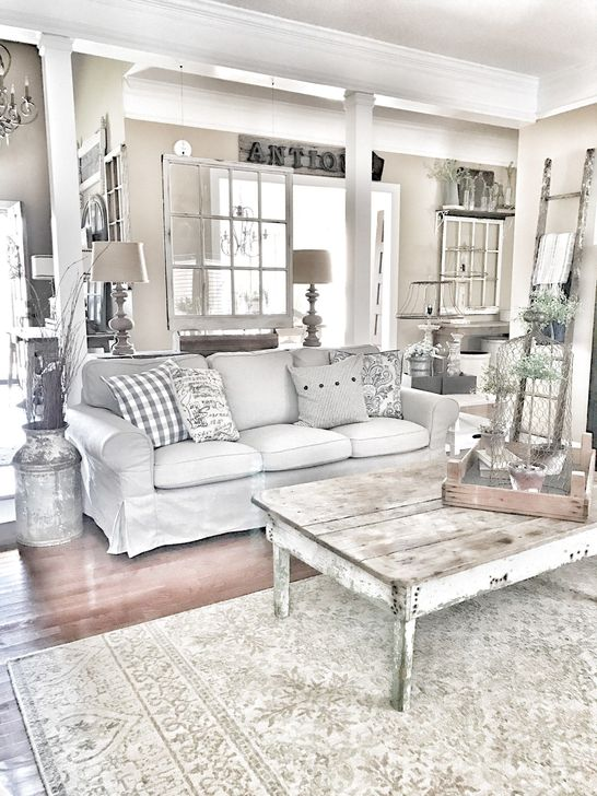 Gorgeous Shabby Chic Living Room Design And Decor Ideas 34