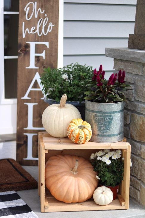 Inspiring Fall Decor Ideas For Your Home Decor 07