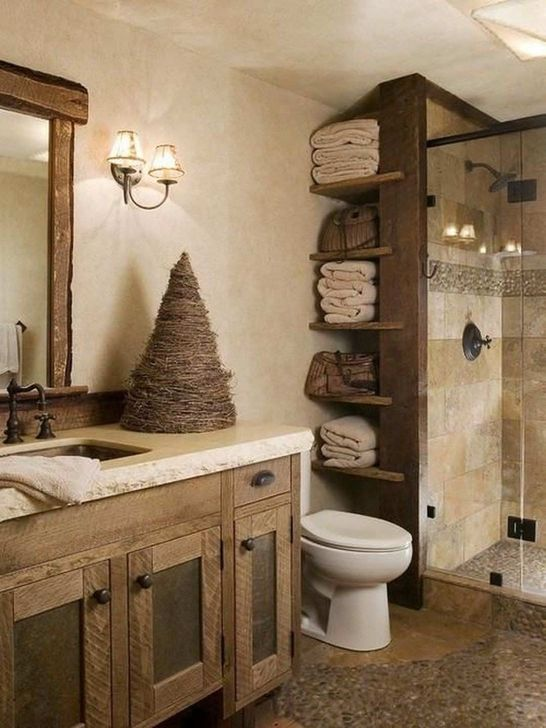 Inspiring Rustic Farmhouse Bathroom Decorating Ideas 01