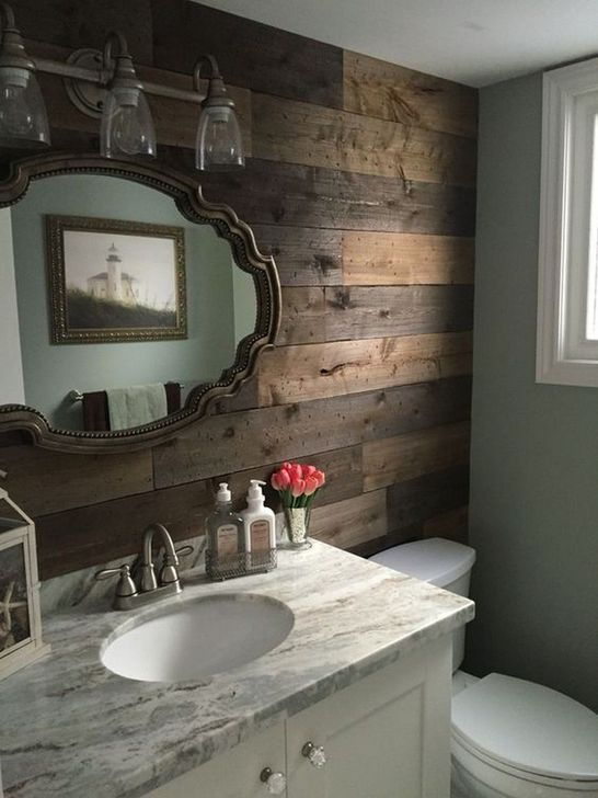 Inspiring Rustic Farmhouse Bathroom Decorating Ideas 11