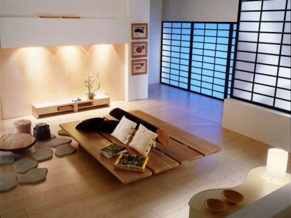Lovely Japanese Living Room Decor Ideas 33