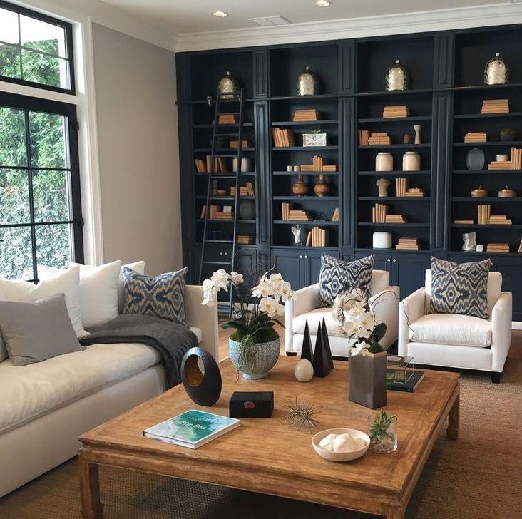 Stunning Bookshelves Design Ideas For Your Living Room Decoration 04