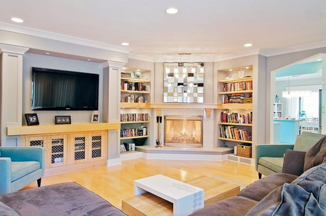 Beautiful Corner Fireplace Design Ideas For Your Living Room 16