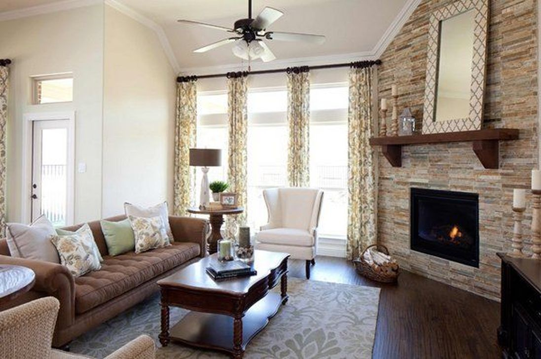 Beautiful Corner Fireplace Design Ideas For Your Living Room 20