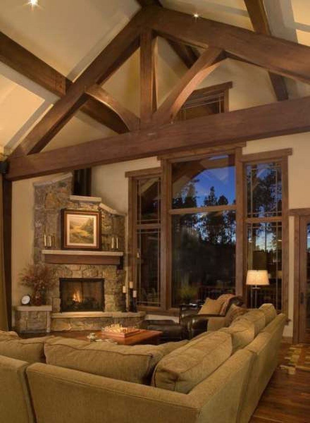 38 Beautiful Corner Fireplace Design Ideas For Your Living ...