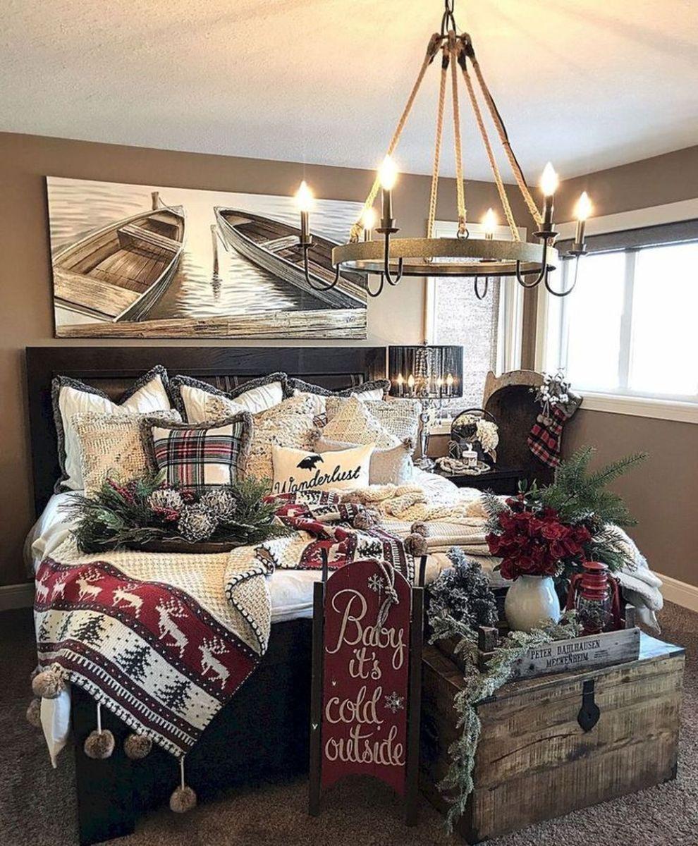 Beautiful Winter Bedroom Decor Ideas 32