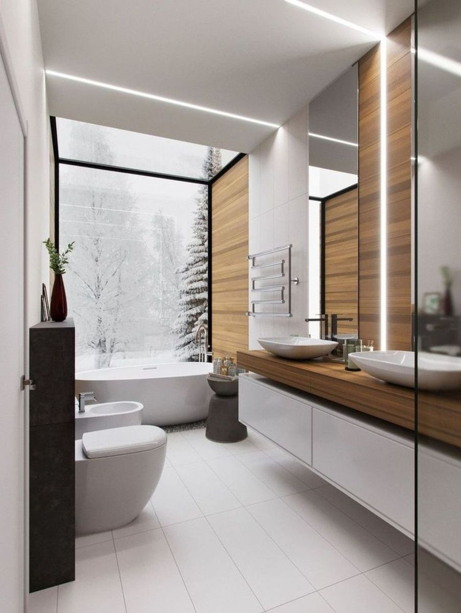 Lovely Winter Bathroom Colors 11