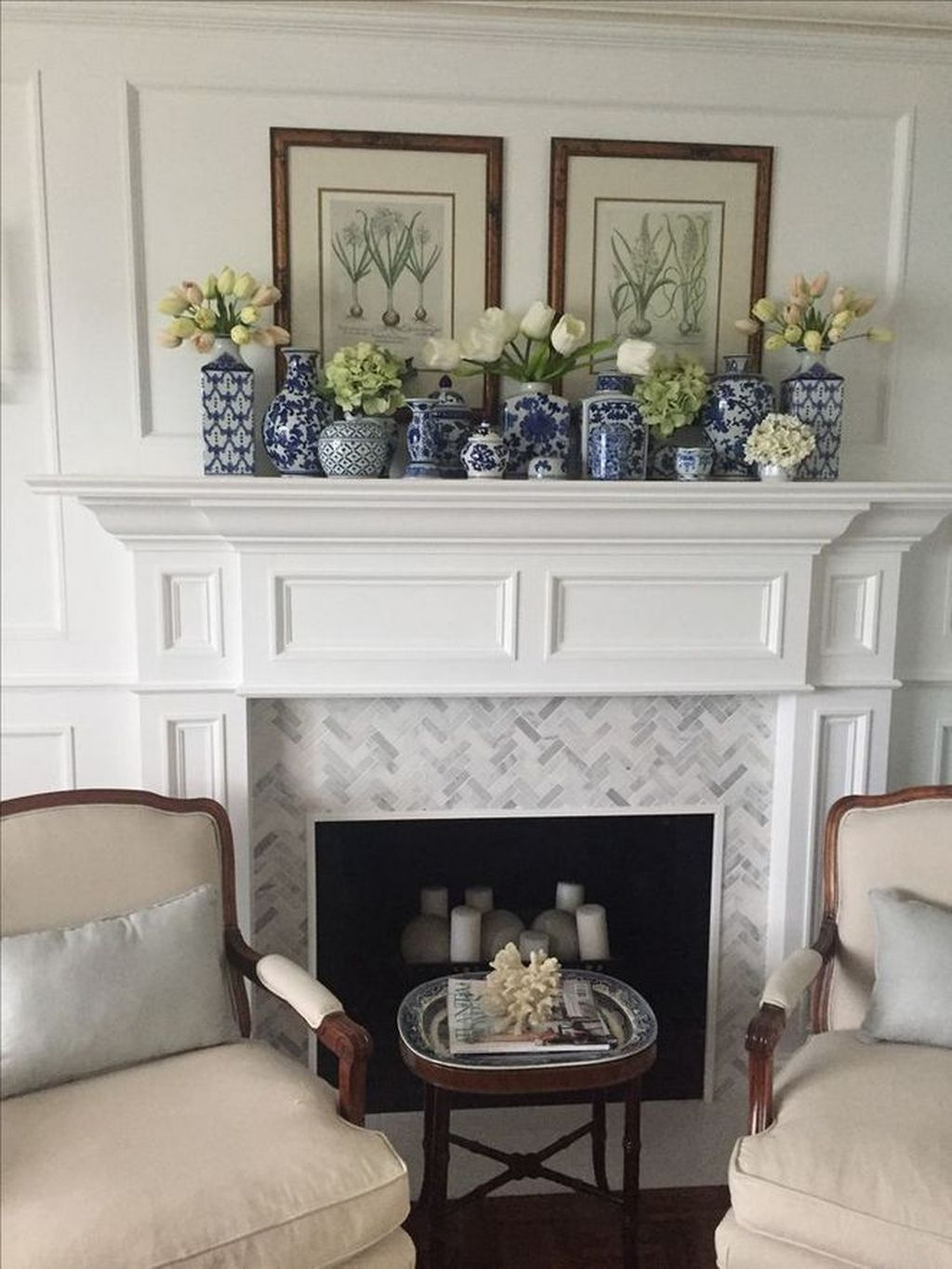 Stunning Fireplace Mantel Decor Ideas You Should Copy Now 01