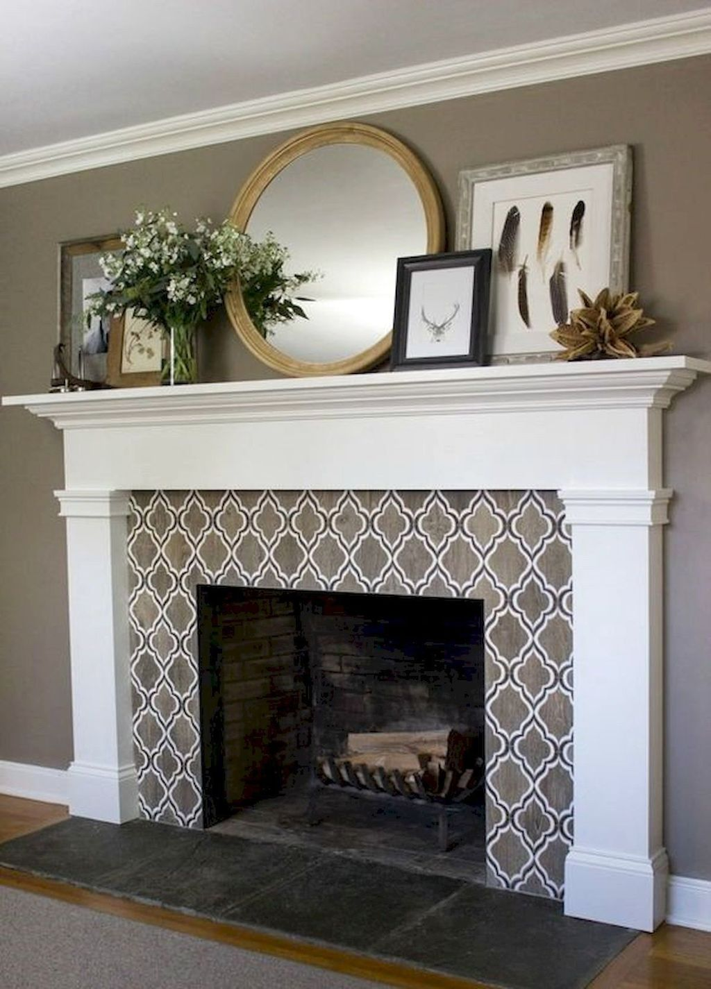 Stunning Fireplace Mantel Decor Ideas You Should Copy Now 02