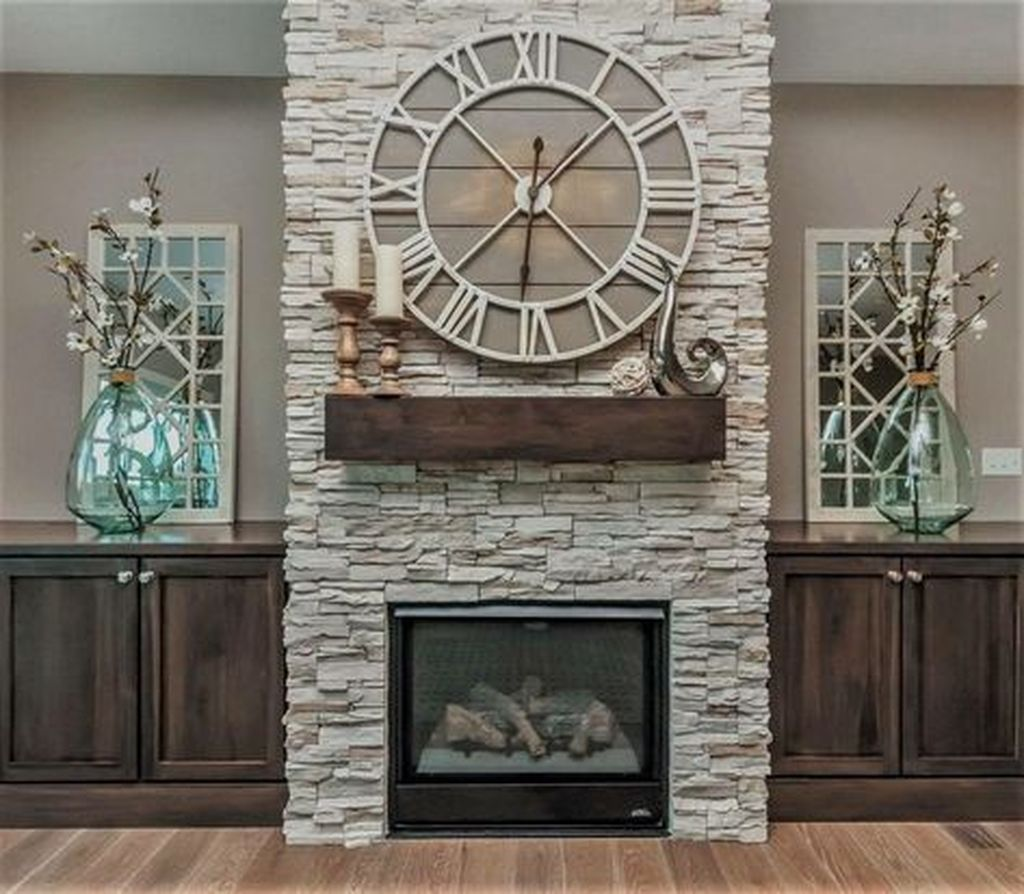 Stunning Fireplace Mantel Decor Ideas You Should Copy Now 04