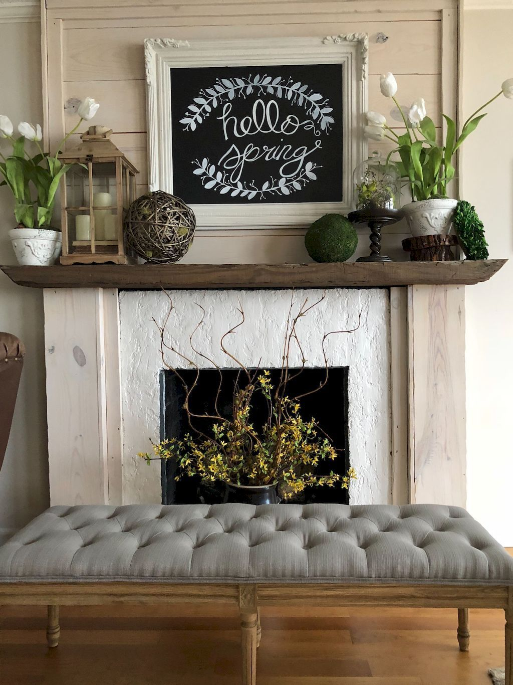 Stunning Fireplace Mantel Decor Ideas You Should Copy Now 20