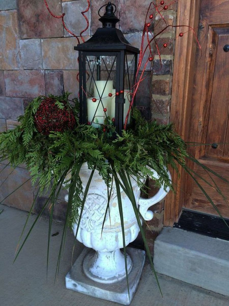 The Best Christmas Lanterns Outdoor Ideas Best For Front Porches 07