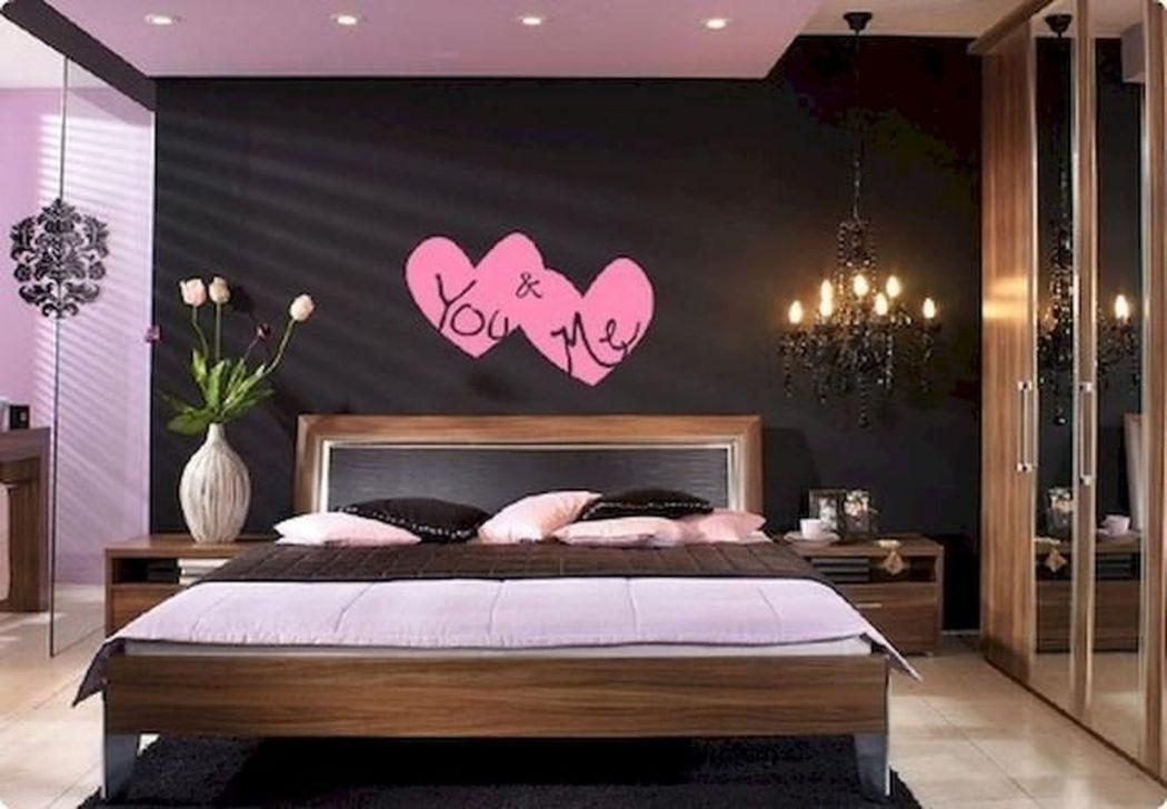 Gorgeous Romantic Valentine Bedroom Decoration Ideas 24