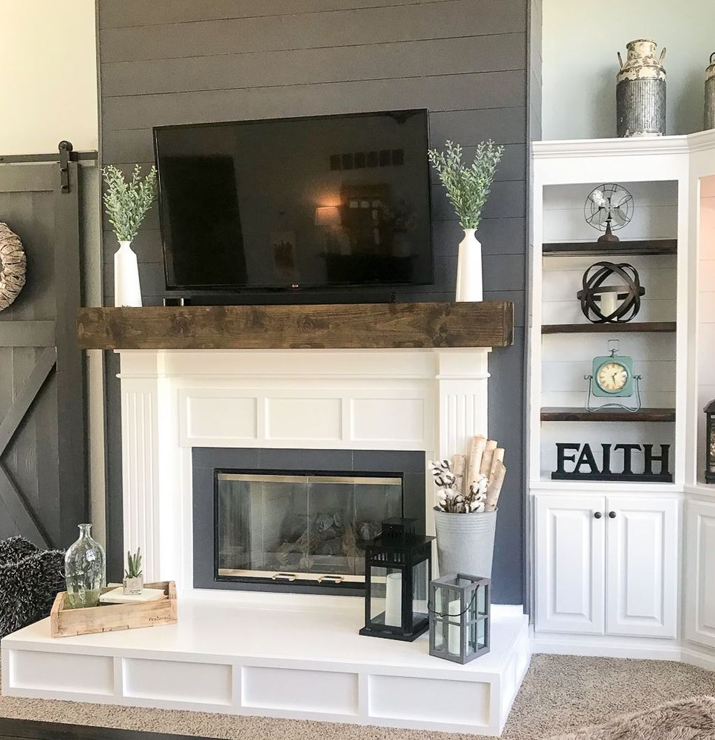 Beautiful Modern Farmhouse Fireplace Ideas You Must Have 03