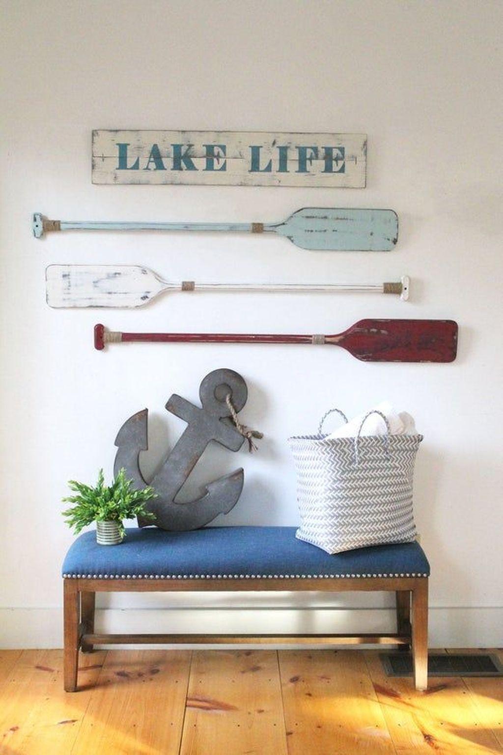 Inspiring Nautical Wall Decor Ideas For Living Room 10