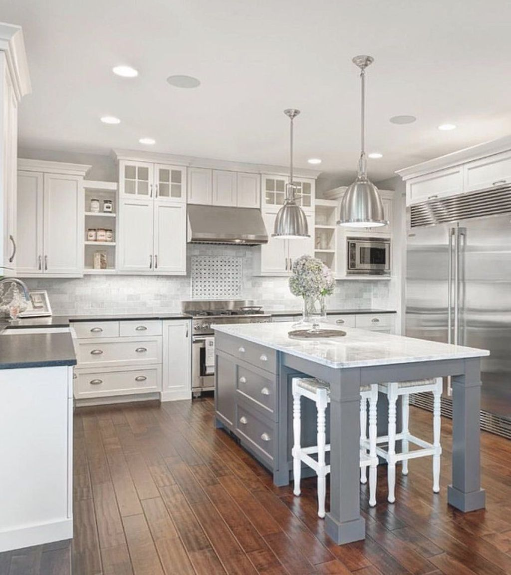 Stunning Grey And White Kitchen Color Ideas Match With Any Kitchen Design 22