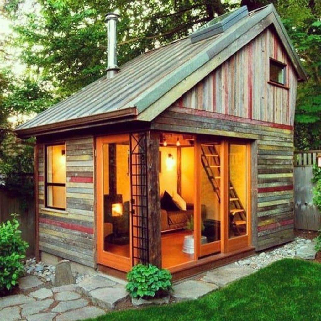 Awesome Backyard Shed Landscaping Ideas 12