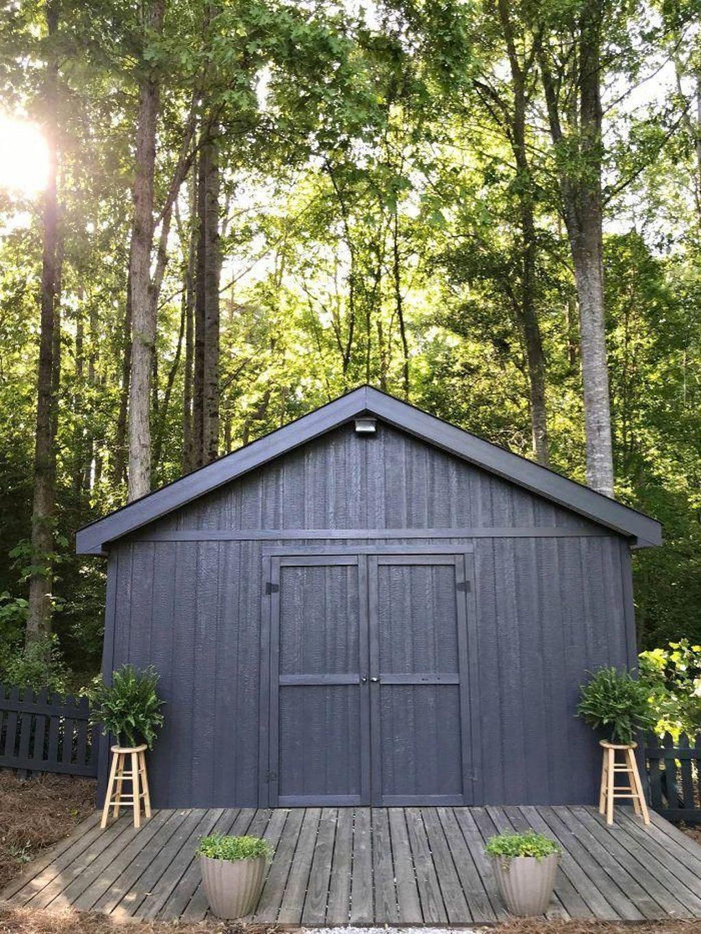 Awesome Backyard Shed Landscaping Ideas 15