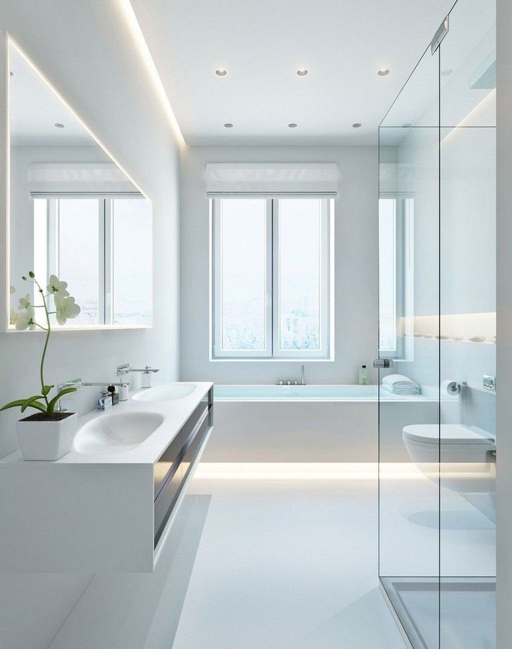 Fascinating Minimalist Bathroom Decoration Ideas 26