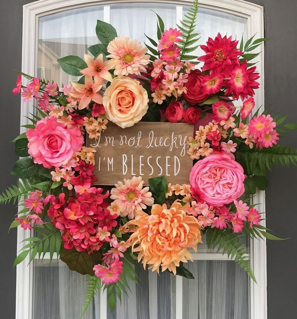 Inspiring Spring Door Wreaths For Your Home Decoration 03