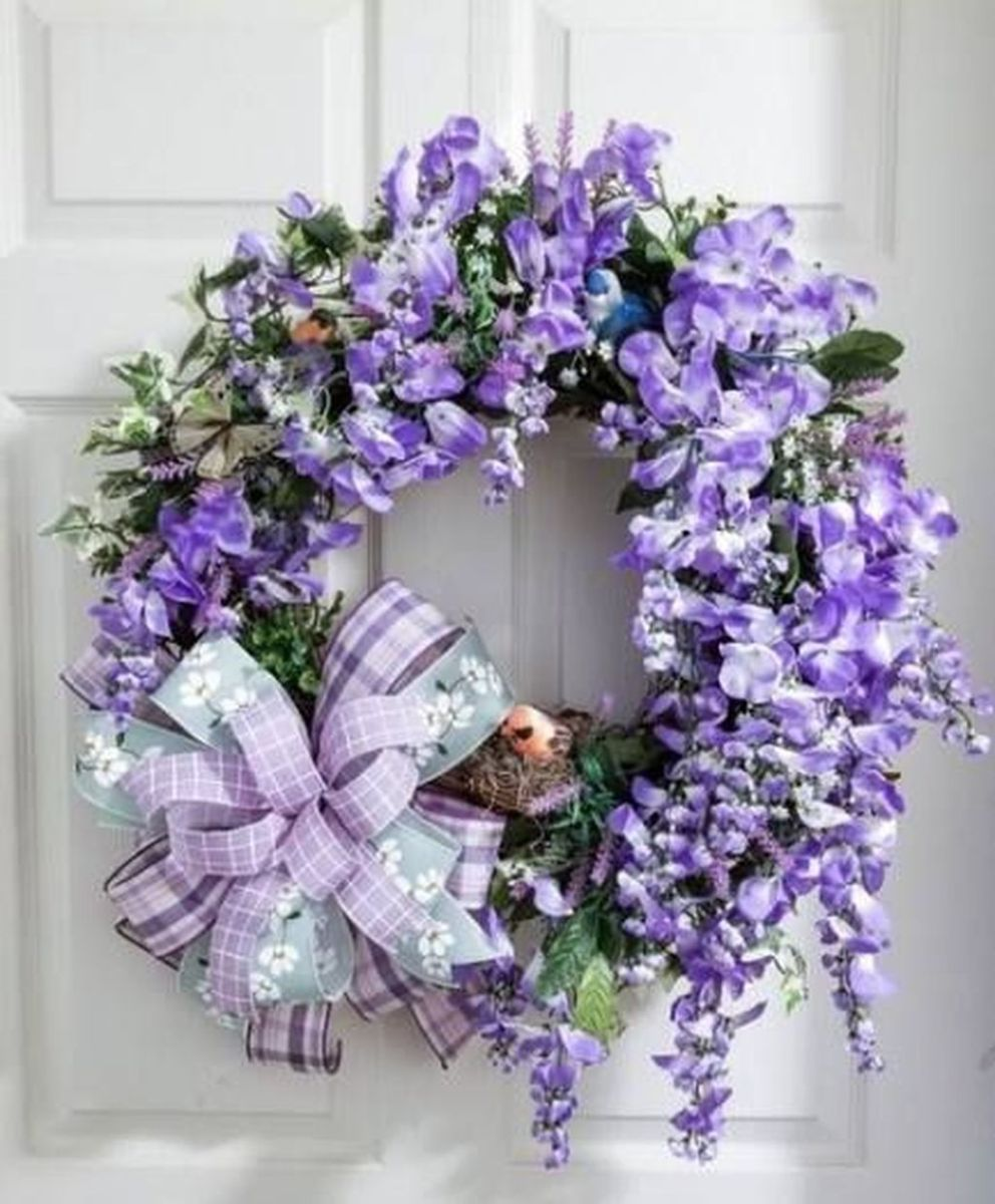 Inspiring Spring Door Wreaths For Your Home Decoration 31