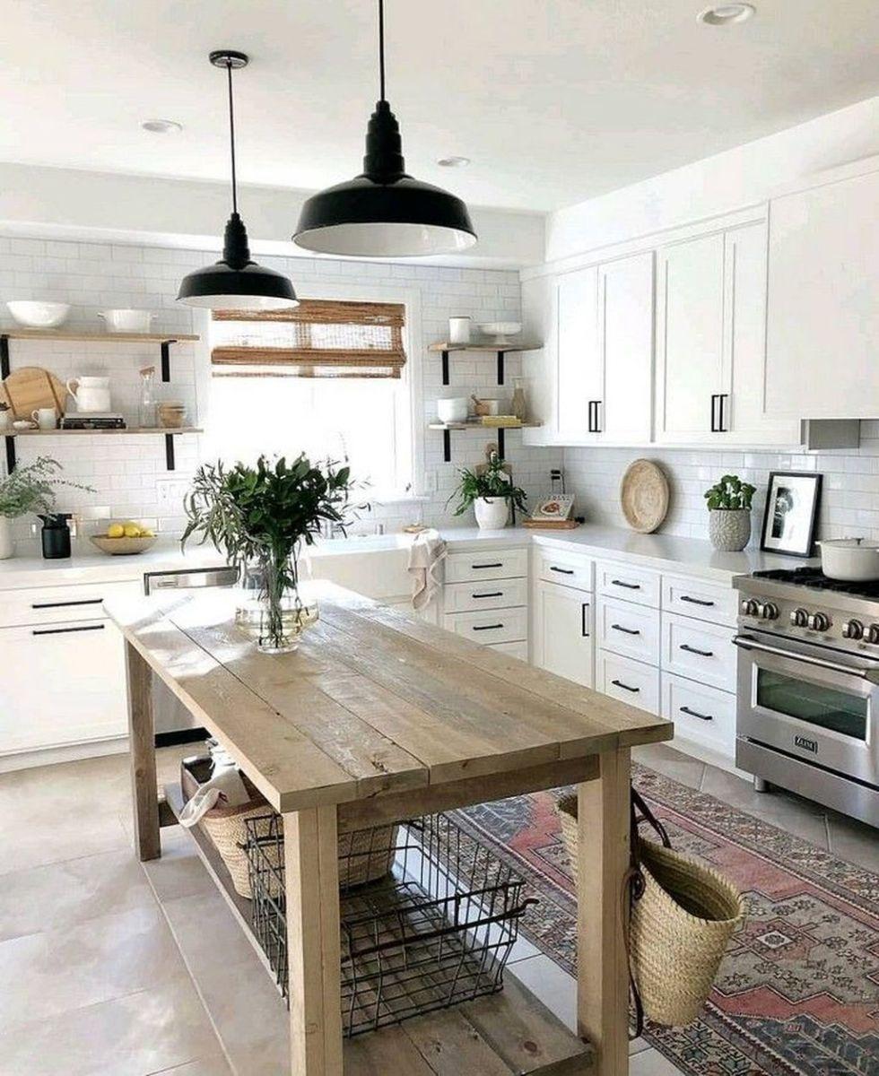 Stunning Modern Farmhouse Kitchen Table Design Ideas 11