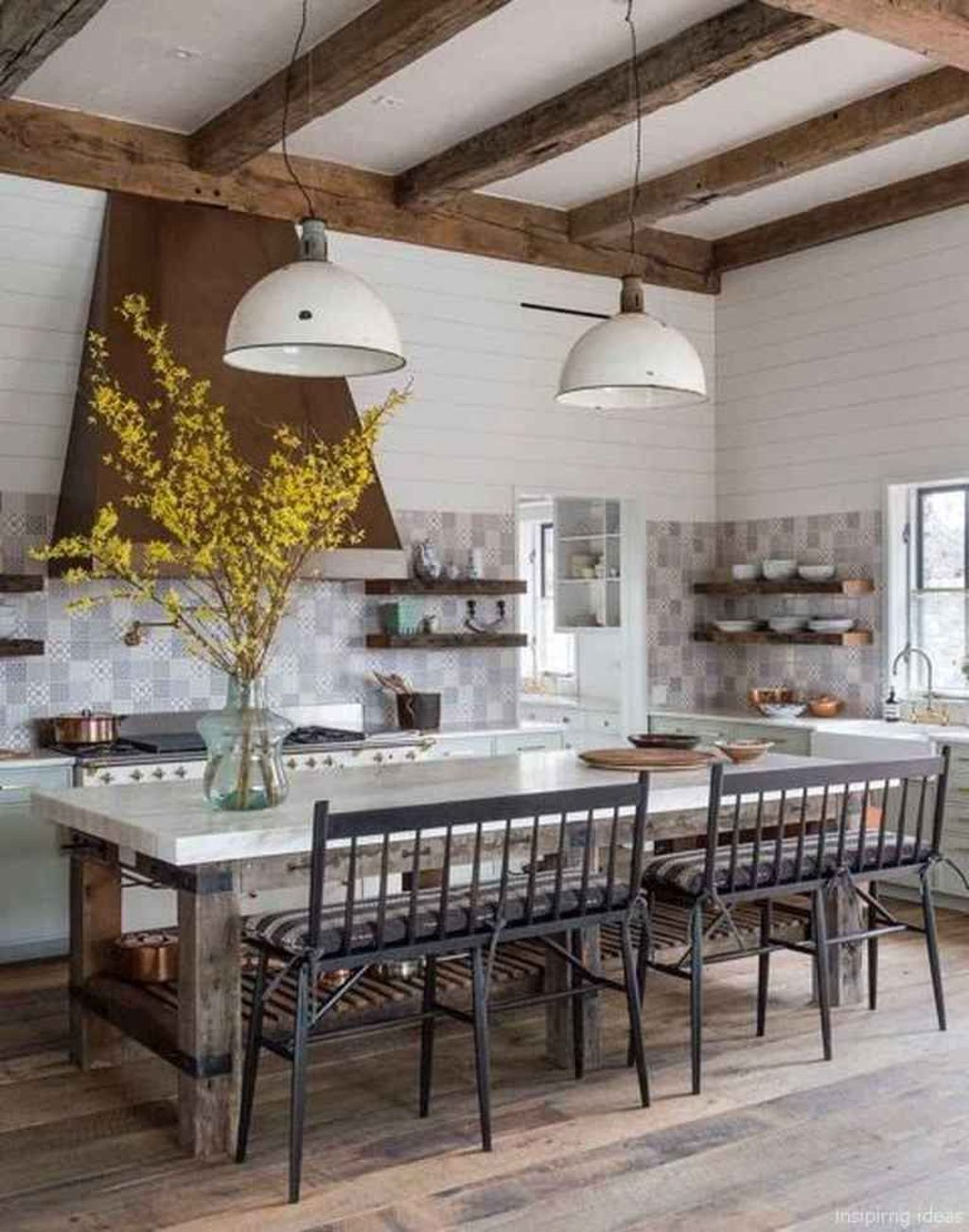 Stunning Modern Farmhouse Kitchen Table Design Ideas 13