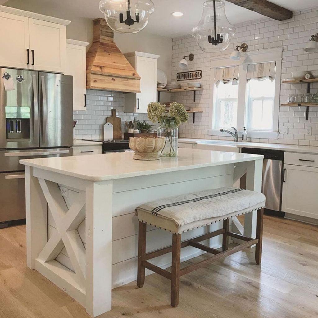 Stunning Modern Farmhouse Kitchen Table Design Ideas 34