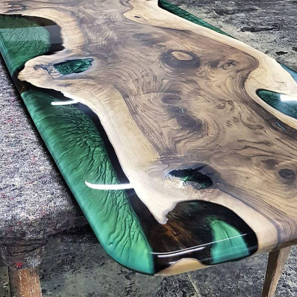 Stunning Resin Wood Table Design Ideas You Will Love 02