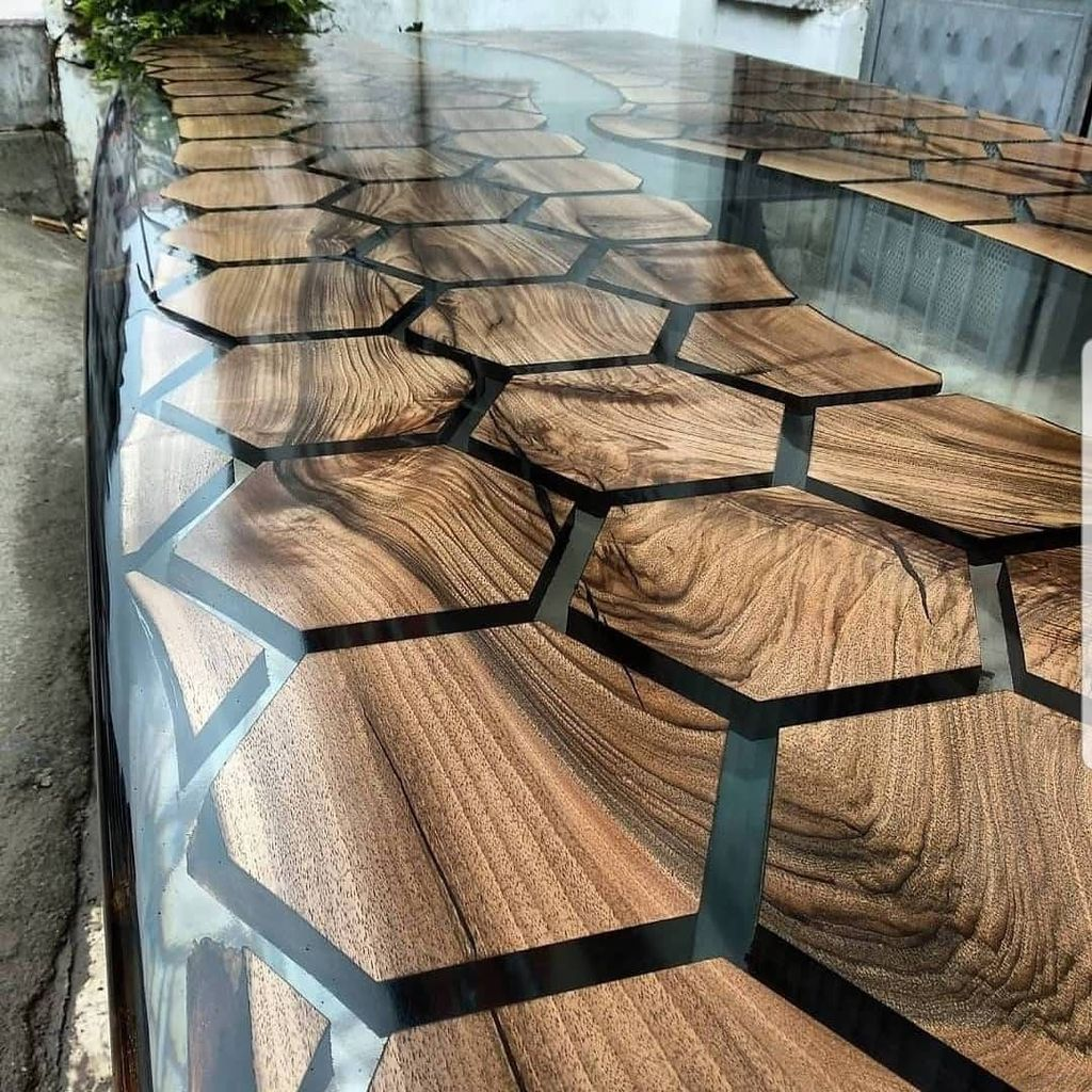Stunning Resin Wood Table Design Ideas You Will Love 11