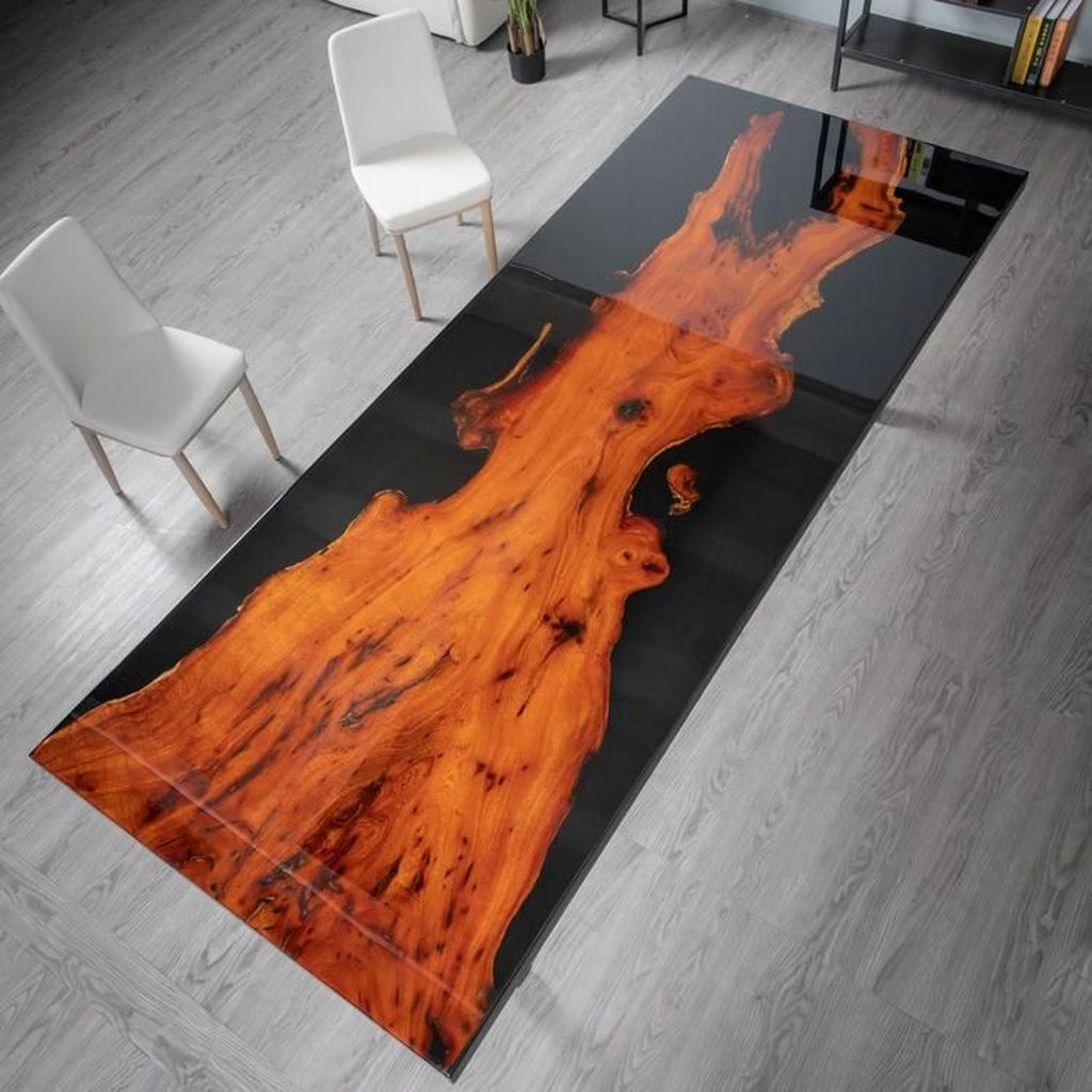 Stunning Resin Wood Table Design Ideas You Will Love 30