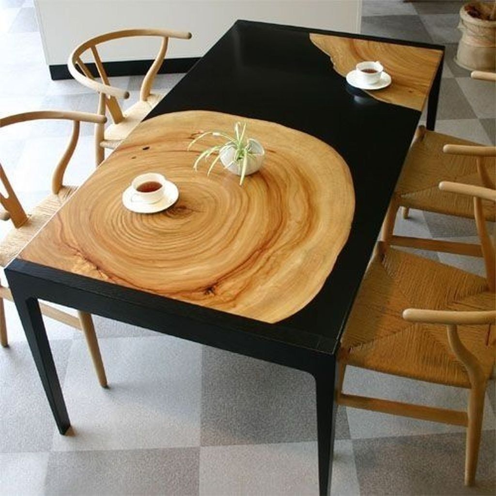 Stunning Resin Wood Table Design Ideas You Will Love 35