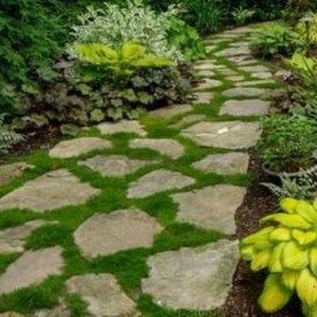 Stunning Stepping Stones Pathway Design Ideas 26