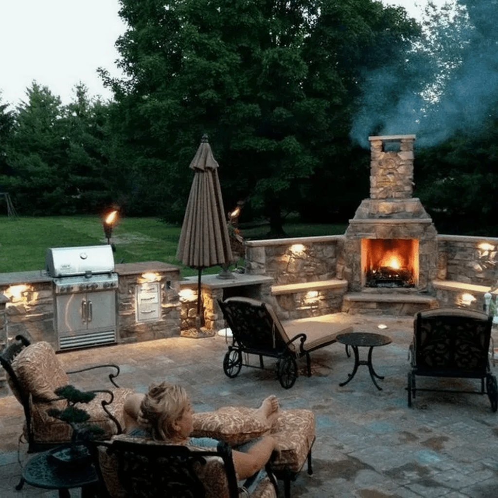 The Best Backyard Fireplace Design Ideas You Must Have 09