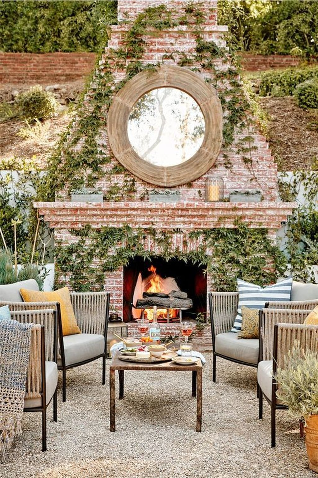 The Best Backyard Fireplace Design Ideas You Must Have 32