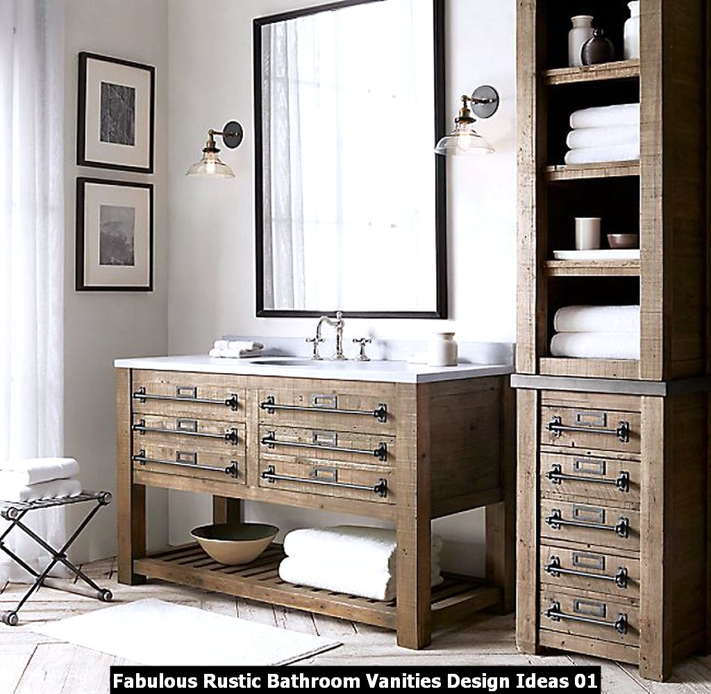 Fabulous Rustic Bathroom Vanities Design Ideas 01