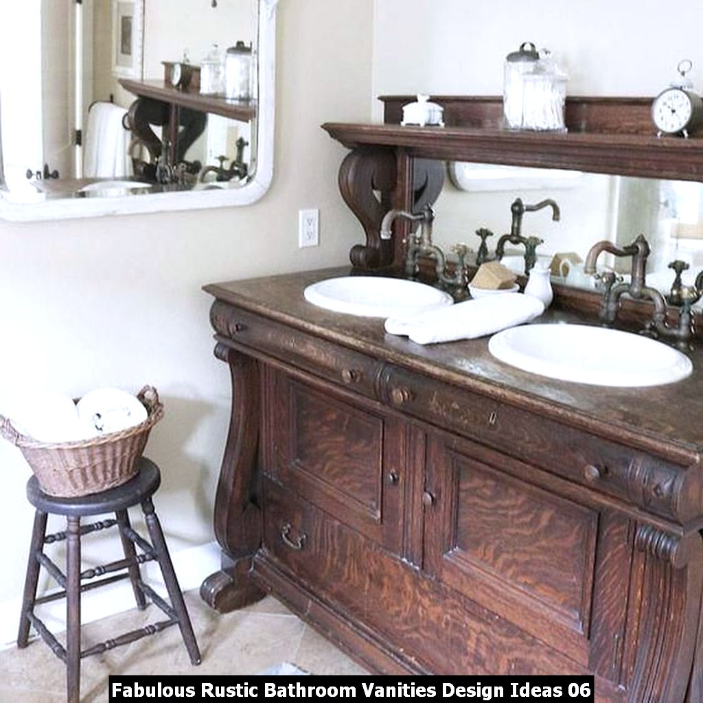 Fabulous Rustic Bathroom Vanities Design Ideas 06
