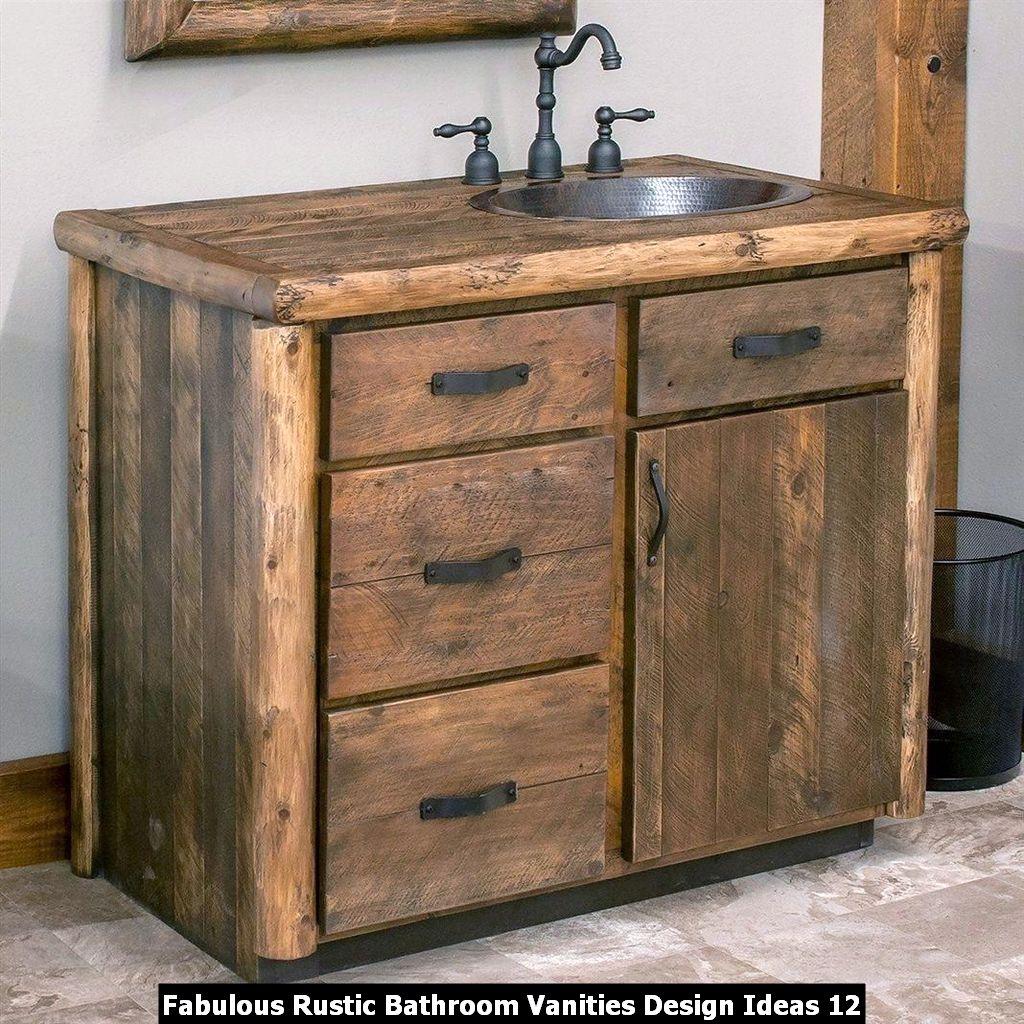Fabulous Rustic Bathroom Vanities Design Ideas 12