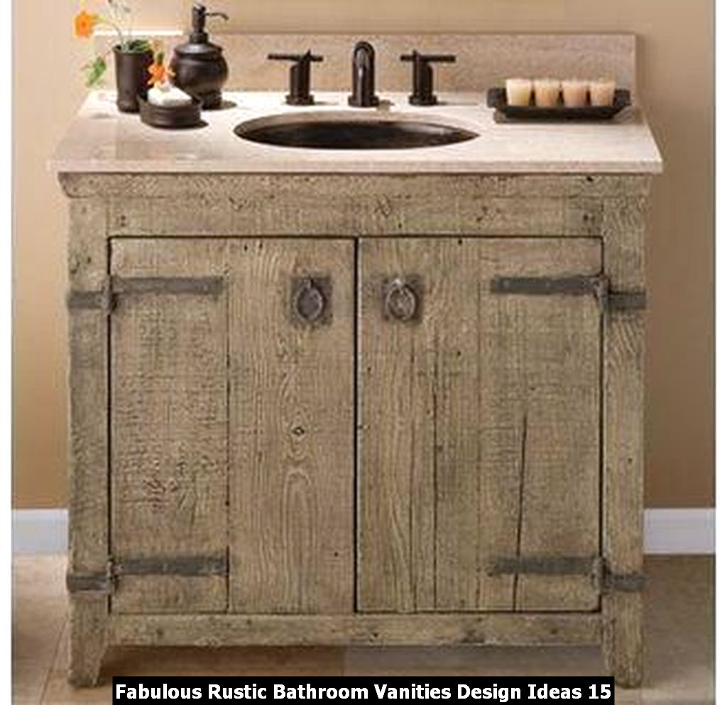 Fabulous Rustic Bathroom Vanities Design Ideas 15