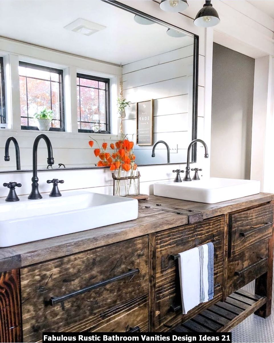 Fabulous Rustic Bathroom Vanities Design Ideas 21