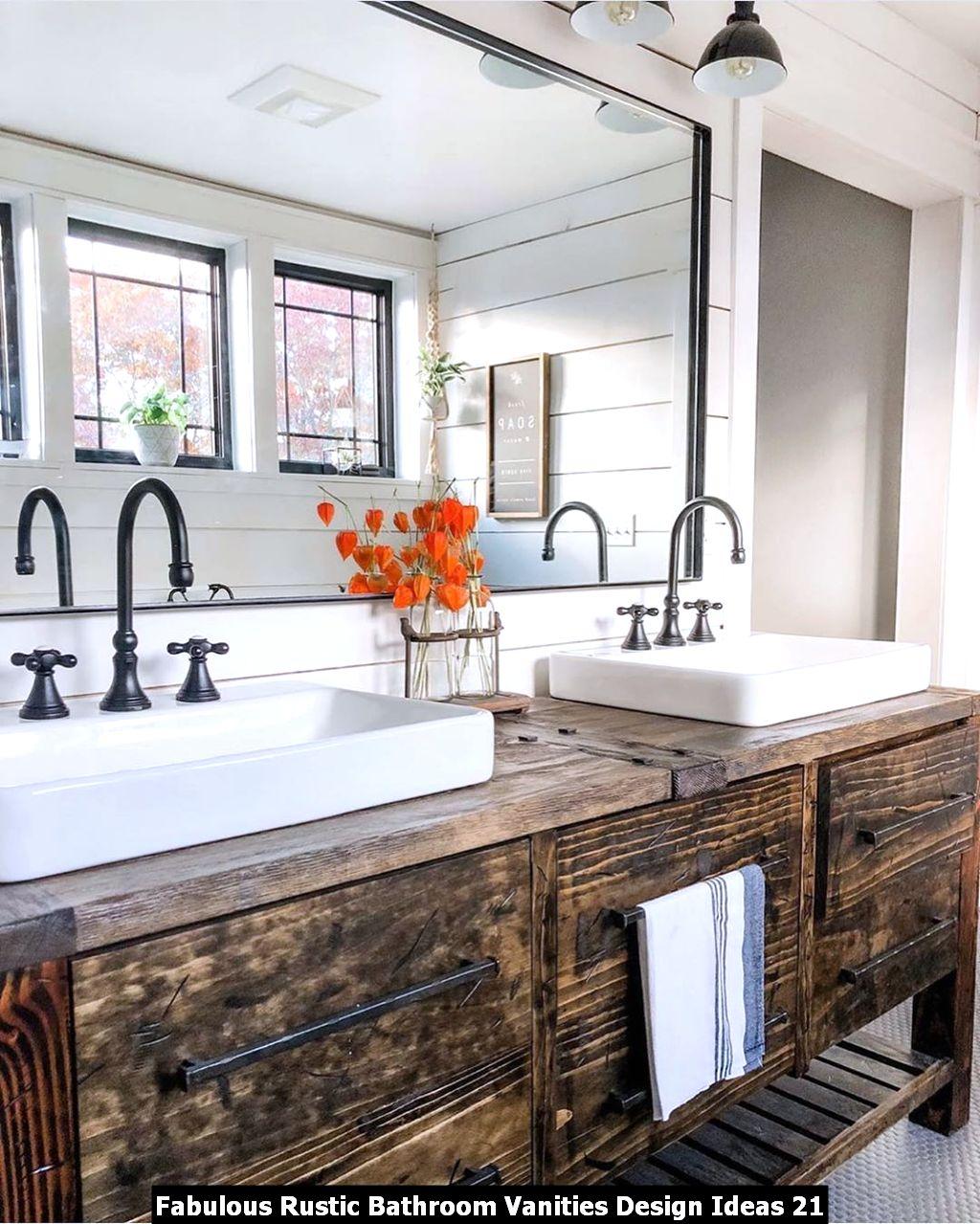 Fabulous Rustic Bathroom Vanities Design Ideas 21