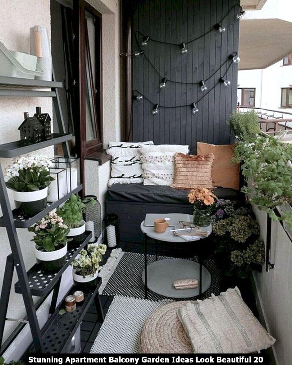 Stunning Apartment Balcony Garden Ideas Look Beautiful 20