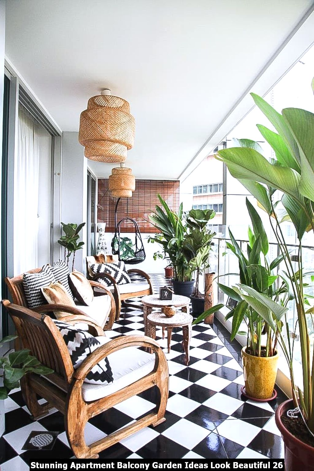 Stunning Apartment Balcony Garden Ideas Look Beautiful 26